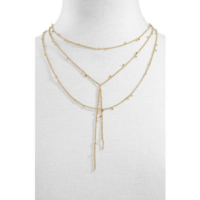 Baublebar Evros Y-Chain Layered Necklace