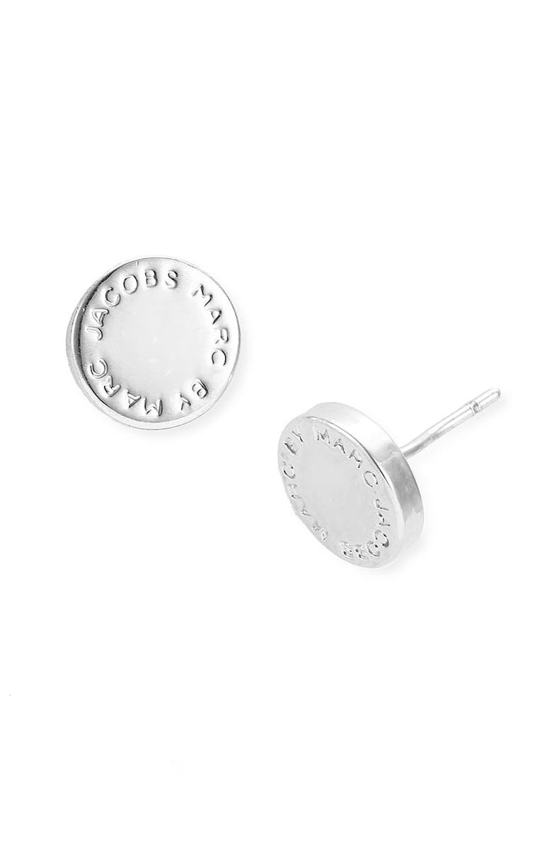 MARC BY MARC JACOBS Logo Disc Stud Earrings, Main, color, 041