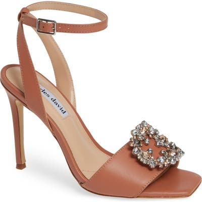 Charles David Vanity Crystal Embellished Sandal, Pink