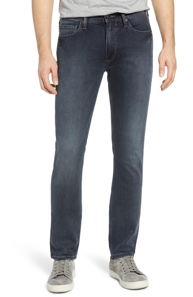 PAIGE Transcend Vintage - Lennox Slim Jeans, Main, color, CARRAWAY