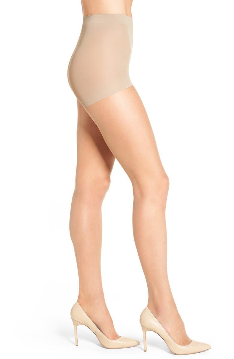 NORDSTROM Ultra Sheer Control Top Pantyhose, Main, color, LIGHT NUDE