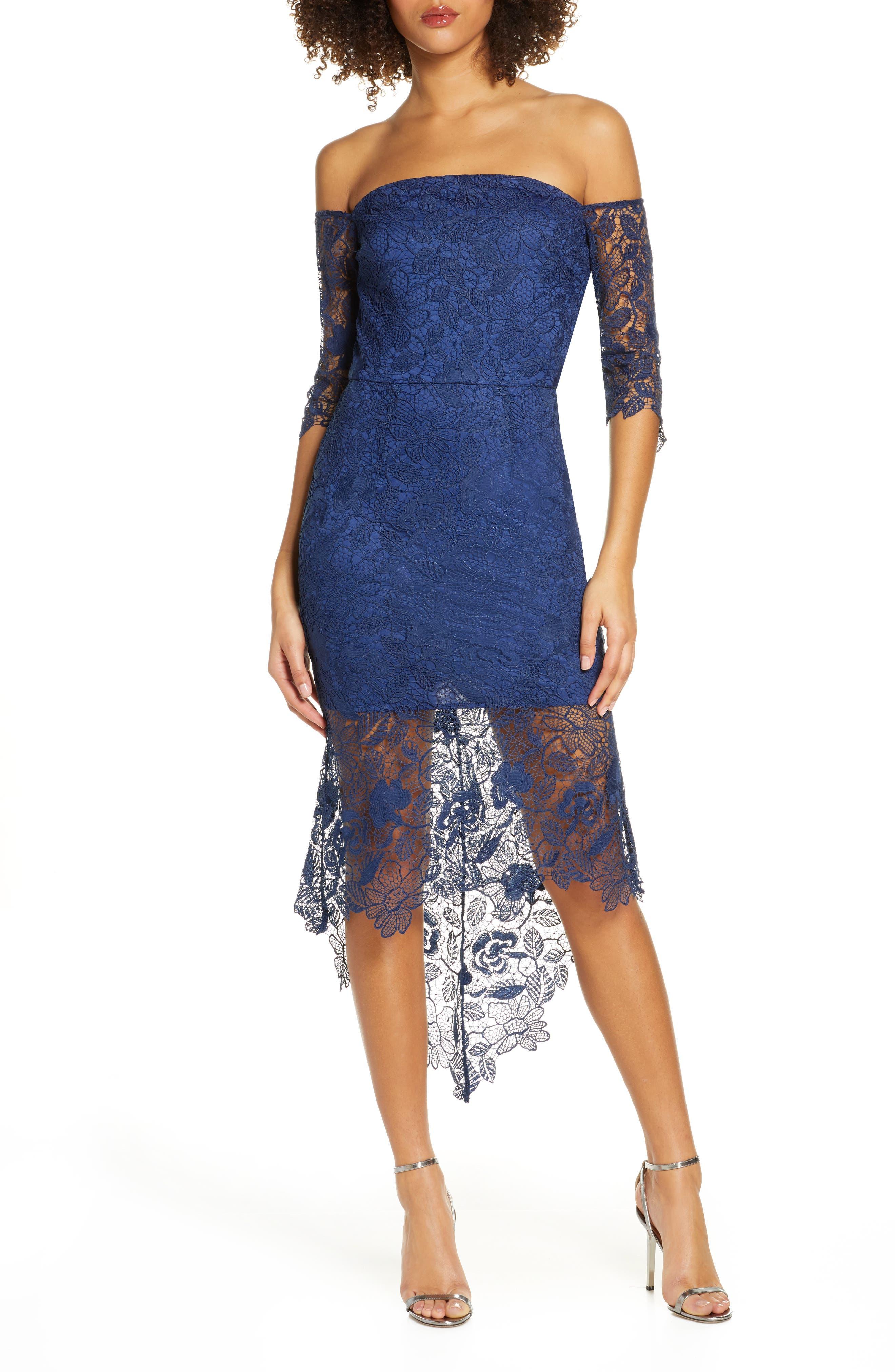 Korina Off The Shoulder Lace Cocktail Dress