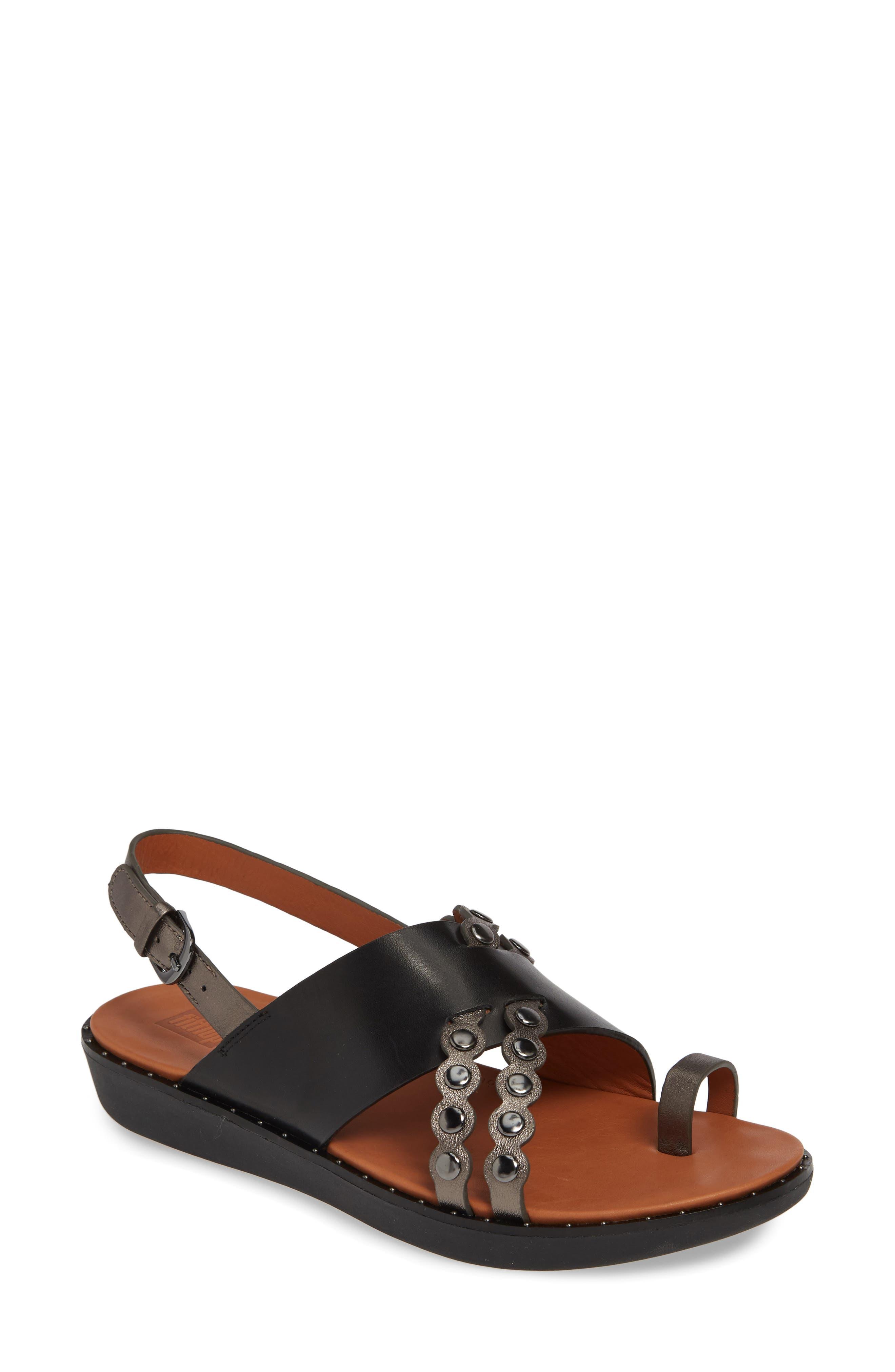 ,                             Scallop Embellished Sandal,                             Main thumbnail 1, color,                             001