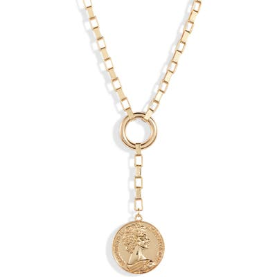 Ettika Large Coin Lariat Necklace