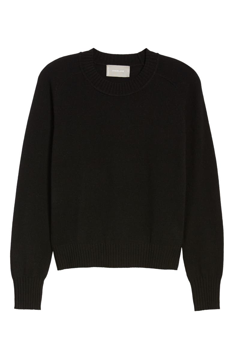 EVERLANE The ReCashmere Vintage Crew Sweater, Main, color, 001