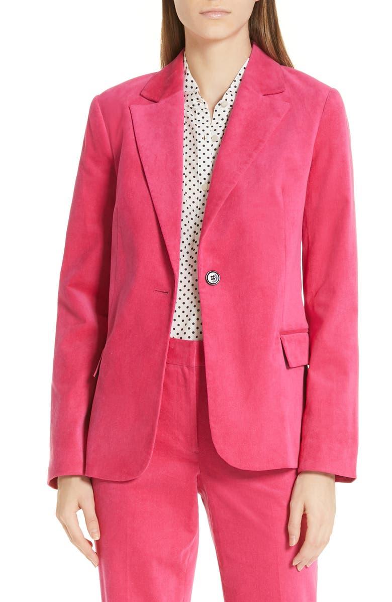 ROBERT RODRIGUEZ Gabriella Velveteen Jacket, Main, color, 670