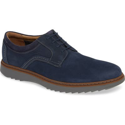 Clarks Un Geo Lace Plain Toe Derby, Blue