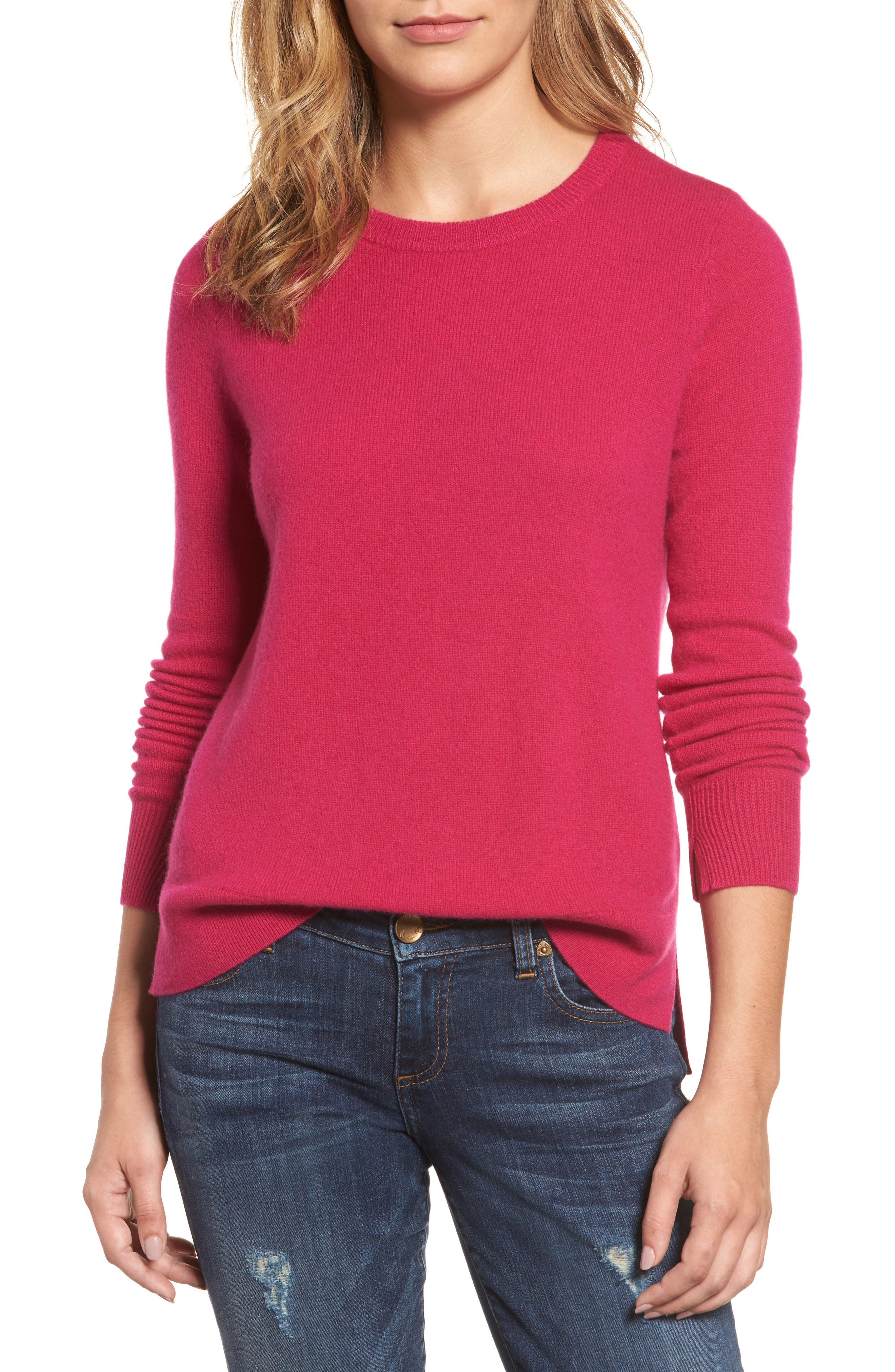 ,                             Crewneck Cashmere Sweater,                             Main thumbnail 279, color,                             651