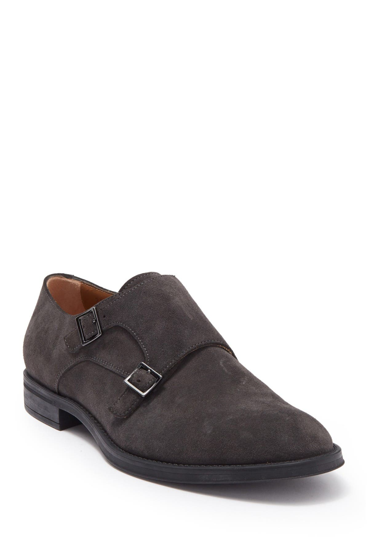 Image of BOSS Coventry Suede Monk Strap Loafer