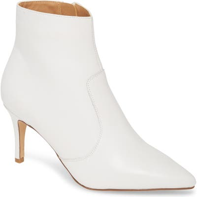 Halogen Ashlee Pointed Toe Bootie, White