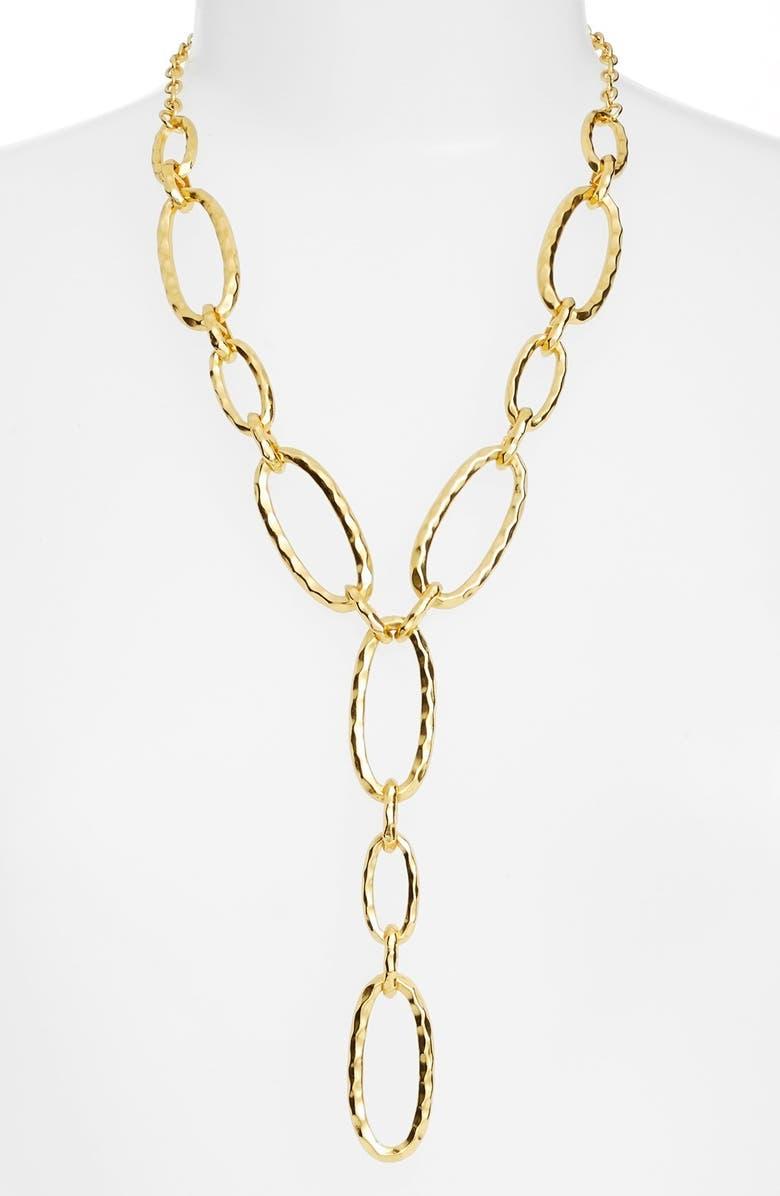 KARINE SULTAN Link Y-Necklace, Main, color, GOLD