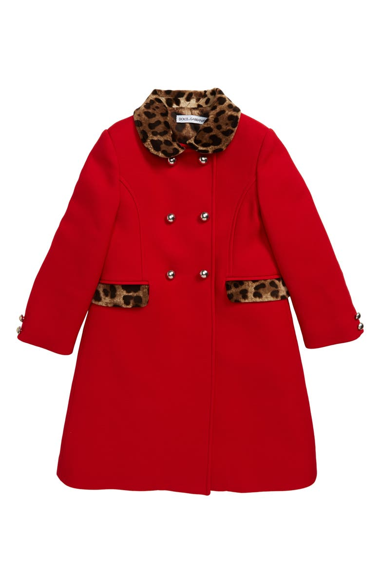 DOLCE&GABBANA Cappotto Coat, Main, color, BORDEAUX