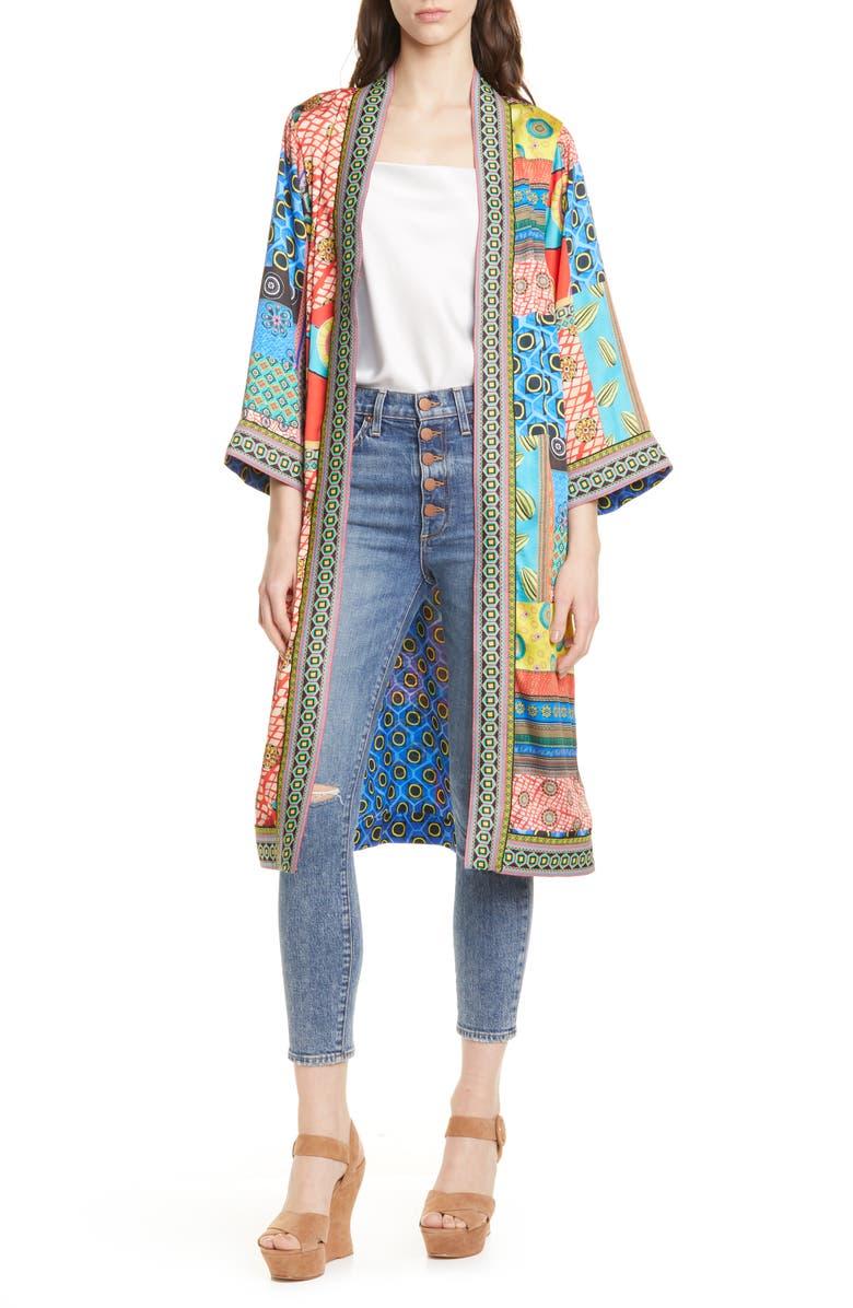 ALICE + OLIVIA Lynn Pattern Mix Jacket, Main, color, 800