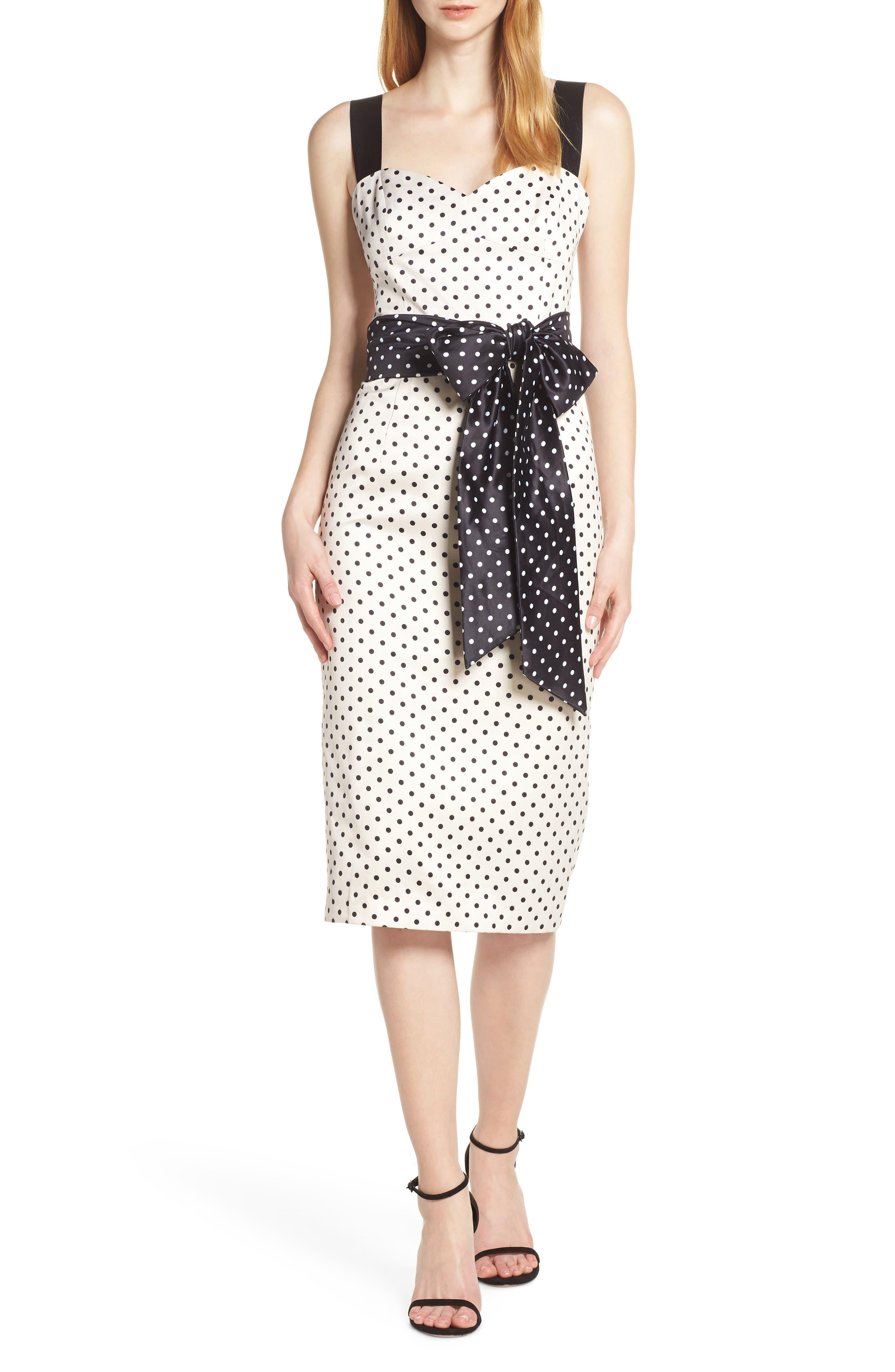 Bronx And Banco Morgan Sleeveless Pencil Dress, White