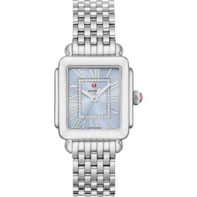 Michele Deco Madison Diamond Dial Watch Head & Bracelet, 2m X 31Mm