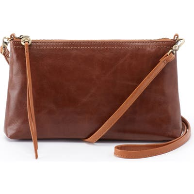 Hobo Darcy Leather Crossbody Bag - Brown