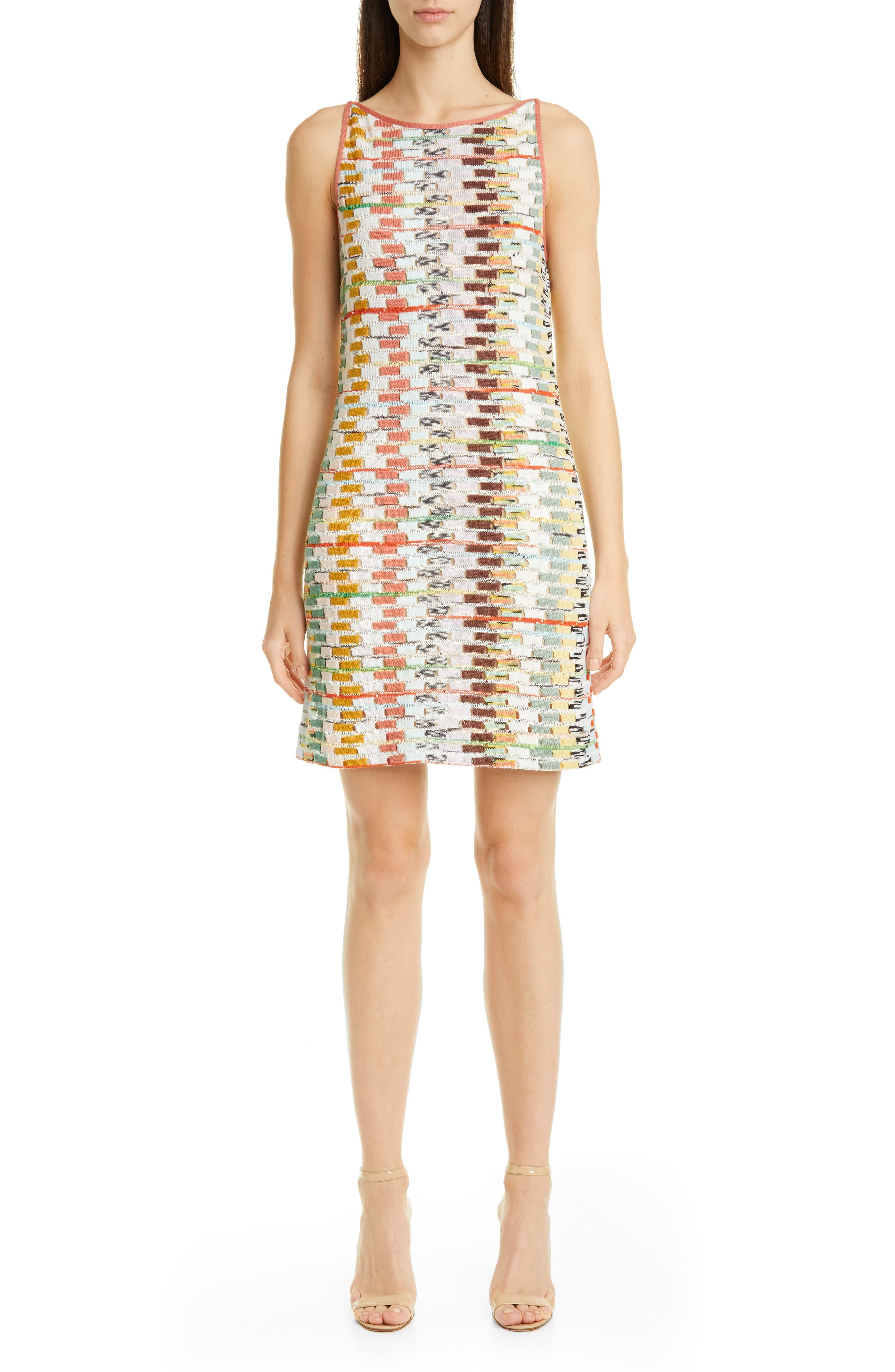 Missoni Multicolor Sleeveless Sweater Dress, US / 46 IT - Ivory