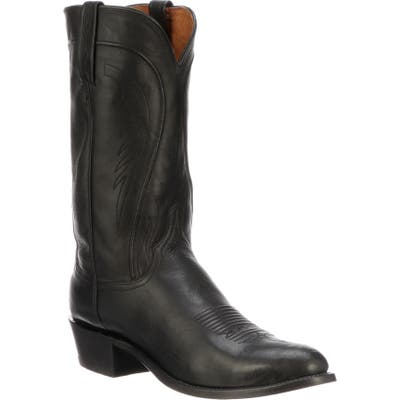 Lucchese Bart Cowboy Boot, Black