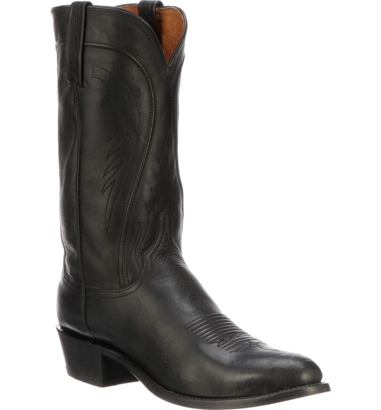 LUCCHESE Bart Cowboy Boot, Main, color, BLACK BURNISHED