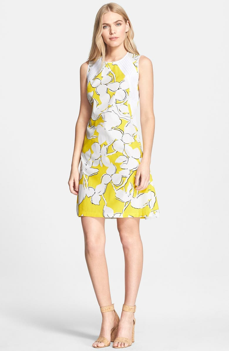 DIANE VON FURSTENBERG 'Samantha' Floral Print Shift Dress, Main, color, 758