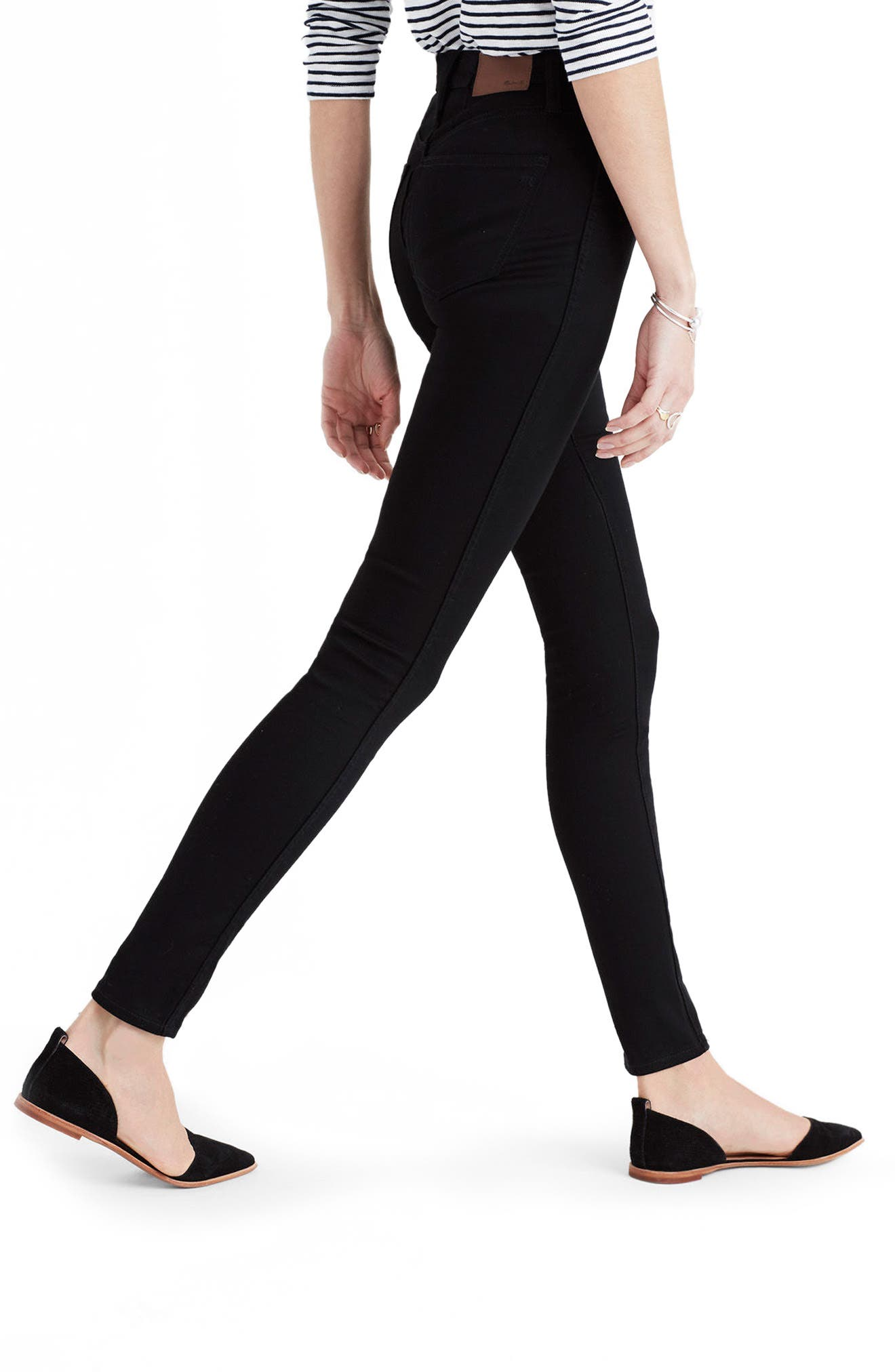,                             10-Inch High Rise Skinny Jeans,                             Alternate thumbnail 5, color,                             CARBONDALE