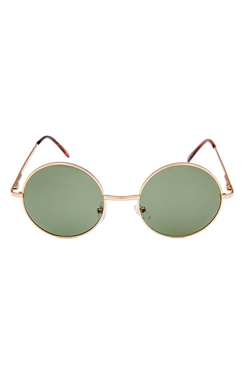 RAD + REFINED Round Sunglasses, Main, color, GOLD