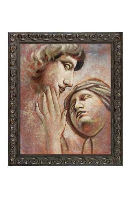 Image of Overstock Art Embrace II (Vertical) by Unknown Artists Framed Hand Painted Oil Reproduction