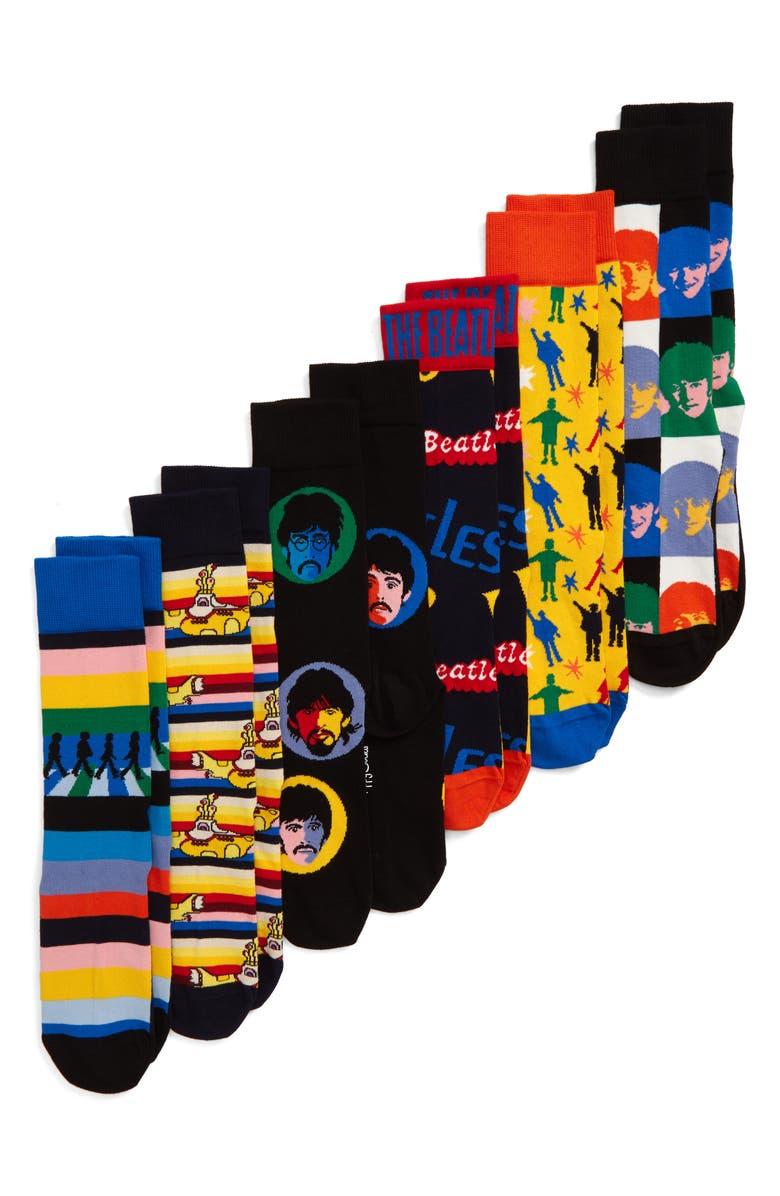 HAPPY SOCKS The Beatles Encore Edition 6-Pack Sock Gift Set, Main, color, 001