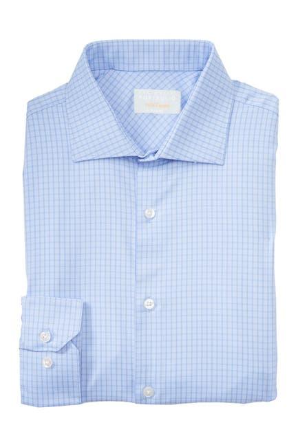 Image of Perry Ellis Check Print Long Sleeve Slim Fit Shirt