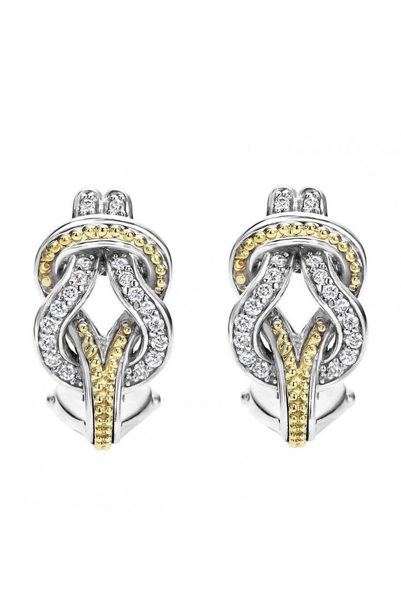 LAGOS 'Newport' Diamond Knot Earrings | Nordstrom