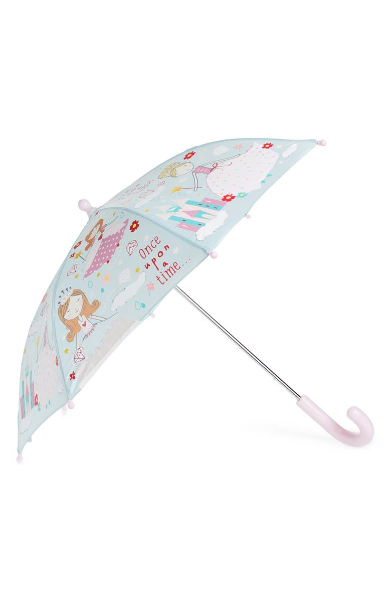 FLOSS & ROCK Princess Color Changing Umbrella, Main, color, LIGHT BLUE