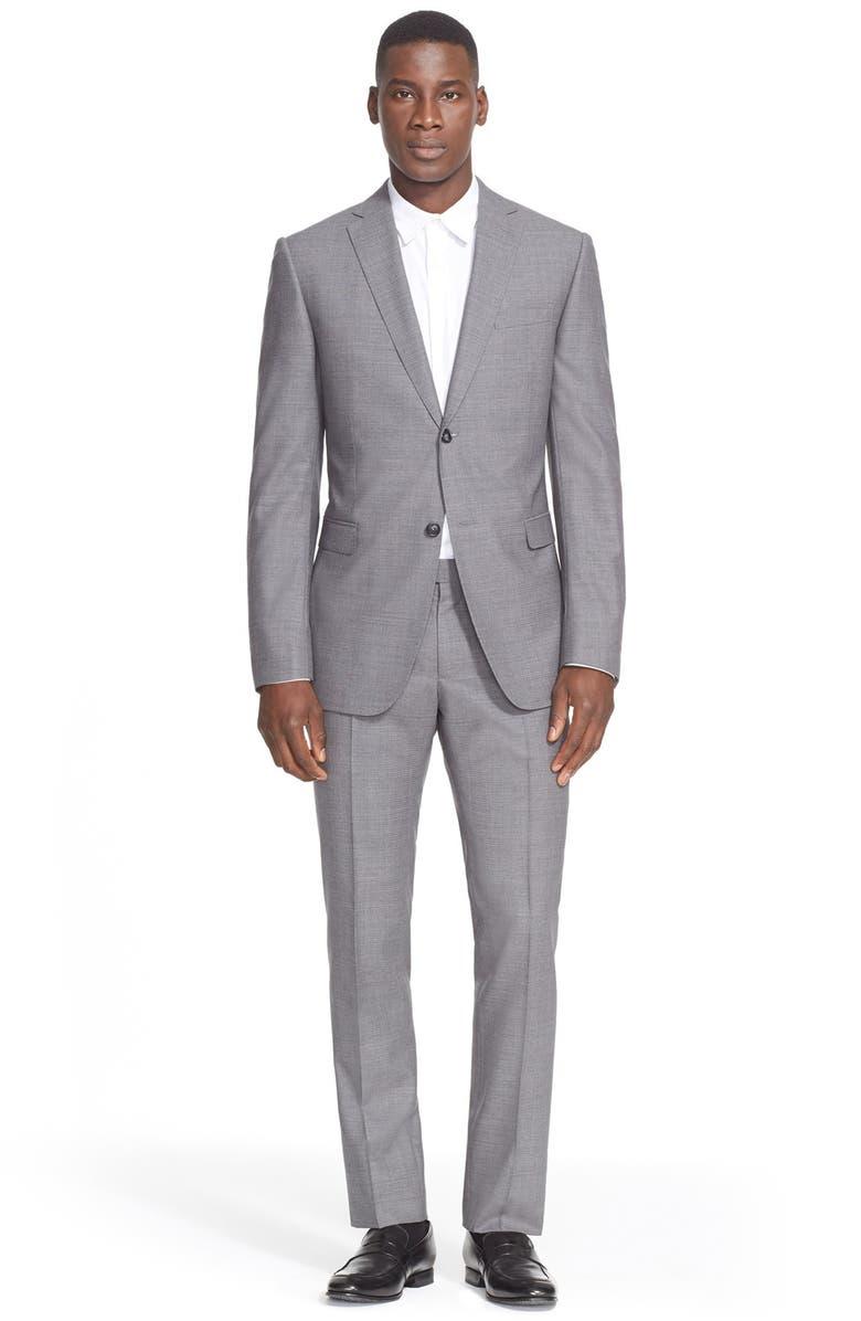 Z ZEGNA Trim Fit Solid Wool Suit, Main, color, 022