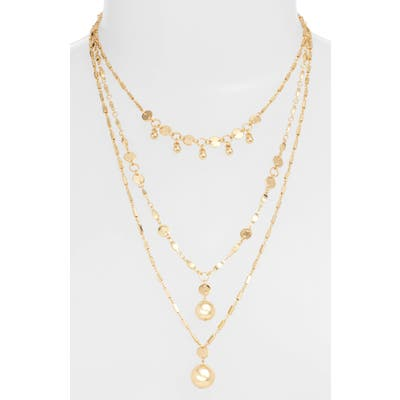 Ettika Ball & Chain Set Of 3 Necklaces