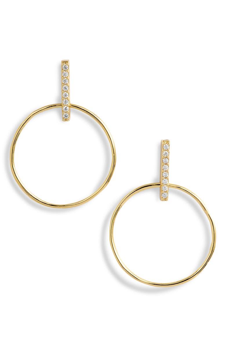 GORJANA Balboa Shimmer Small Hoop Drop Earrings, Main, color, 710