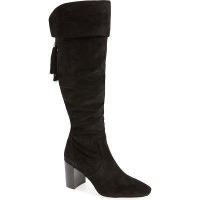 Karl Lagerfeld Paris Razo Tassel Knee High Boot, Black