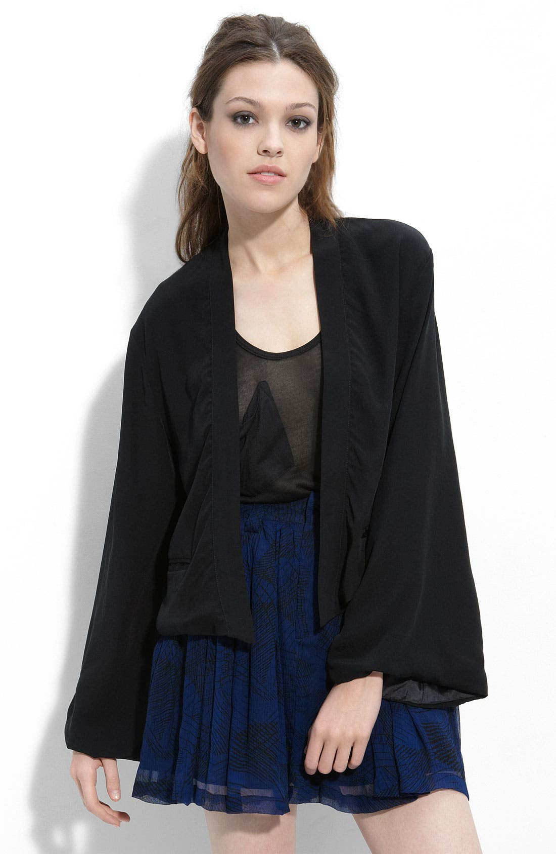 'Jade' Silk Jacket, Main, color, 001