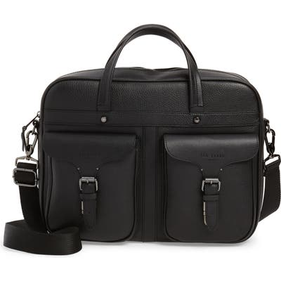 Ted Baker London Forsee Leather Document Bag - Black