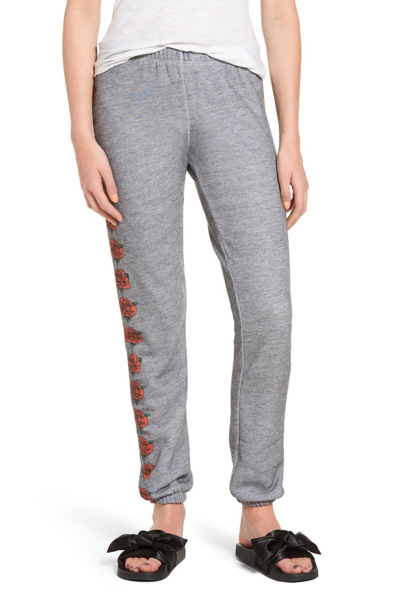 WILDFOX Bouquet Knox Sweatpants, Main, color, 020