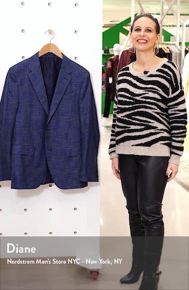 Milano Easy Classic Fit Mélange Wool & Silk Sport Coat, sales video thumbnail