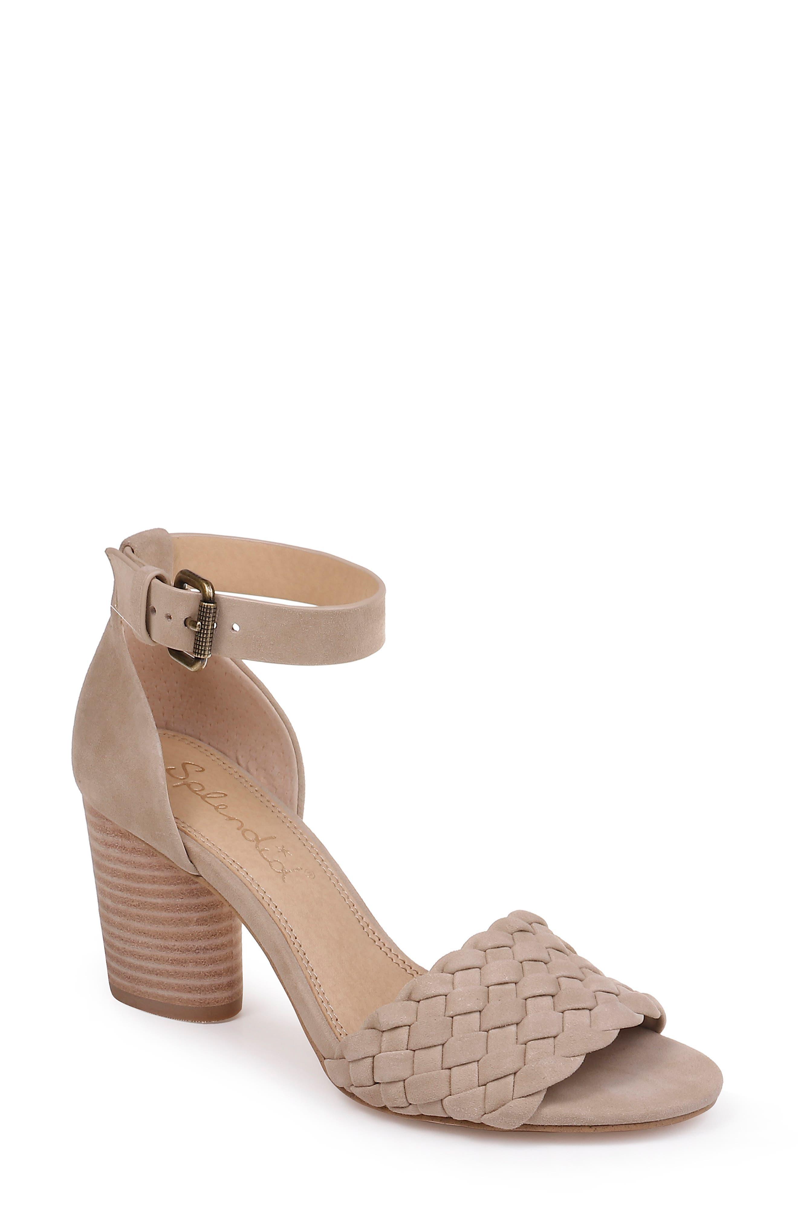 Splendid Taro Woven Ankle Strap Sandal- Beige