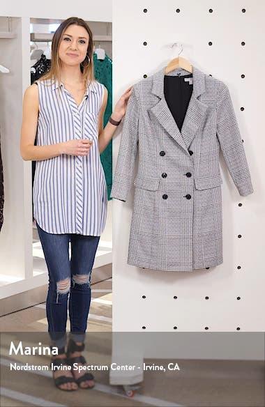 Plaid Long Sleeve Blazer Dress, sales video thumbnail