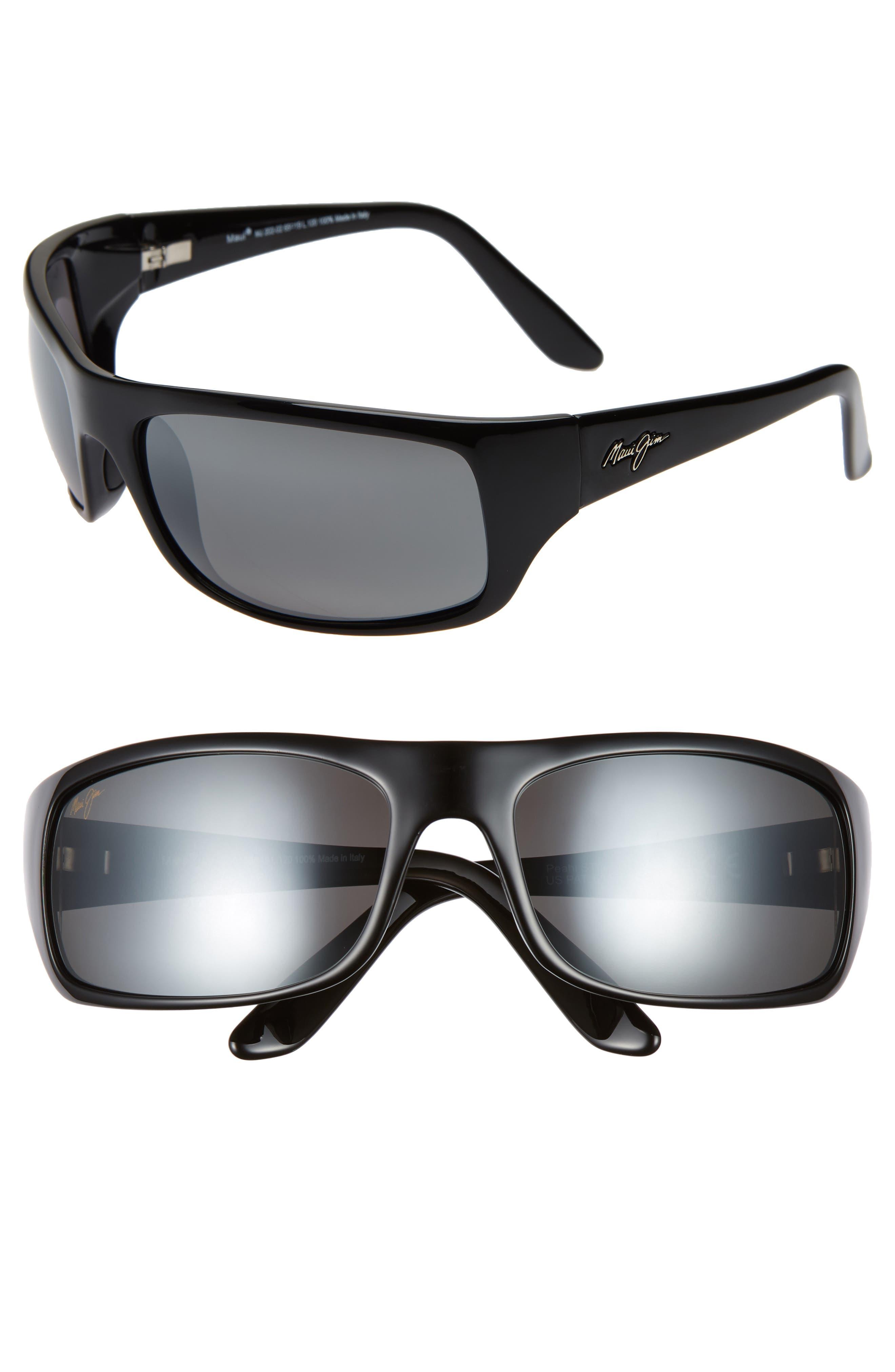,                             'Peahi - PolarizedPlus<sup>®</sup>2' 67mm Sunglasses,                             Alternate thumbnail 2, color,                             GLOSS BLACK / NEUTRAL GREY