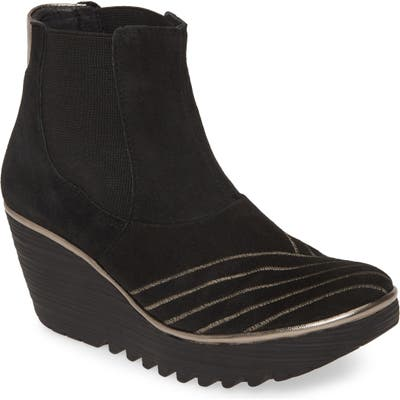 Fly London Yave Wedge Chelsea Boot - Black
