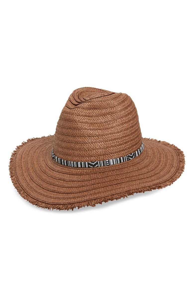 Treasure Bond Frayed Edge Straw Panama Hat
