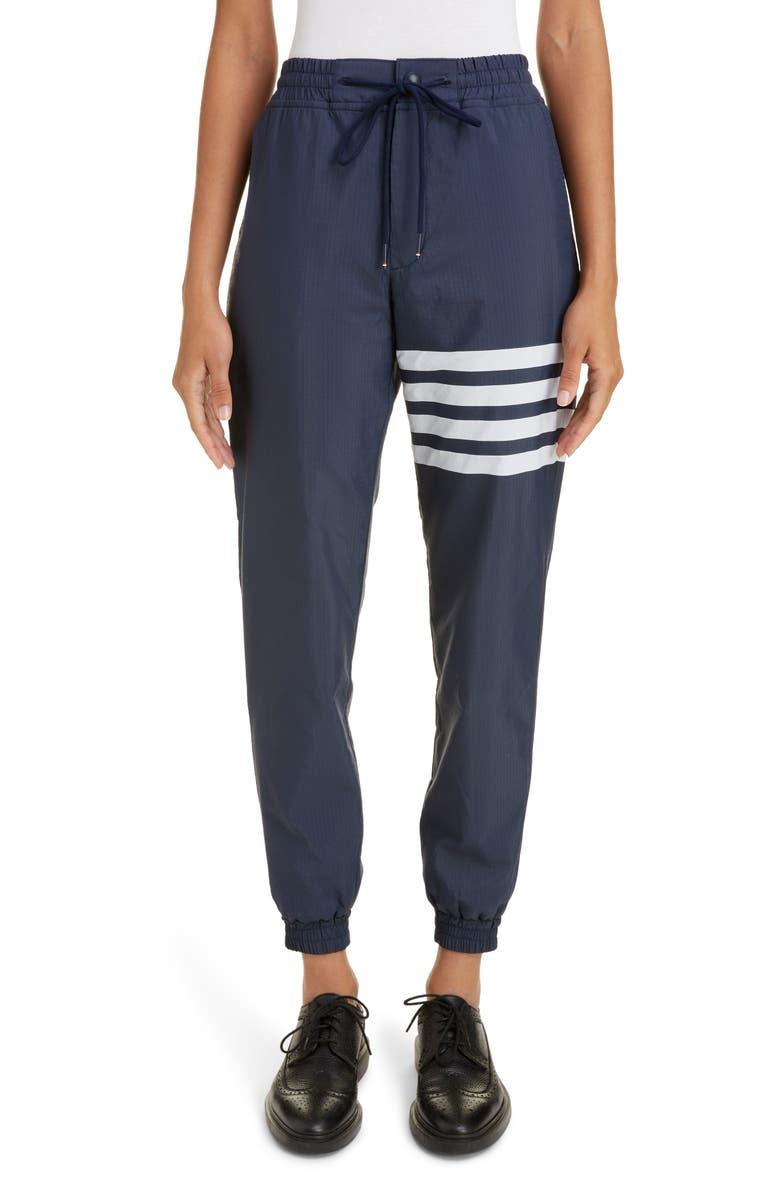 THOM BROWNE Stripe Leg Track Pants, Main, color, 400