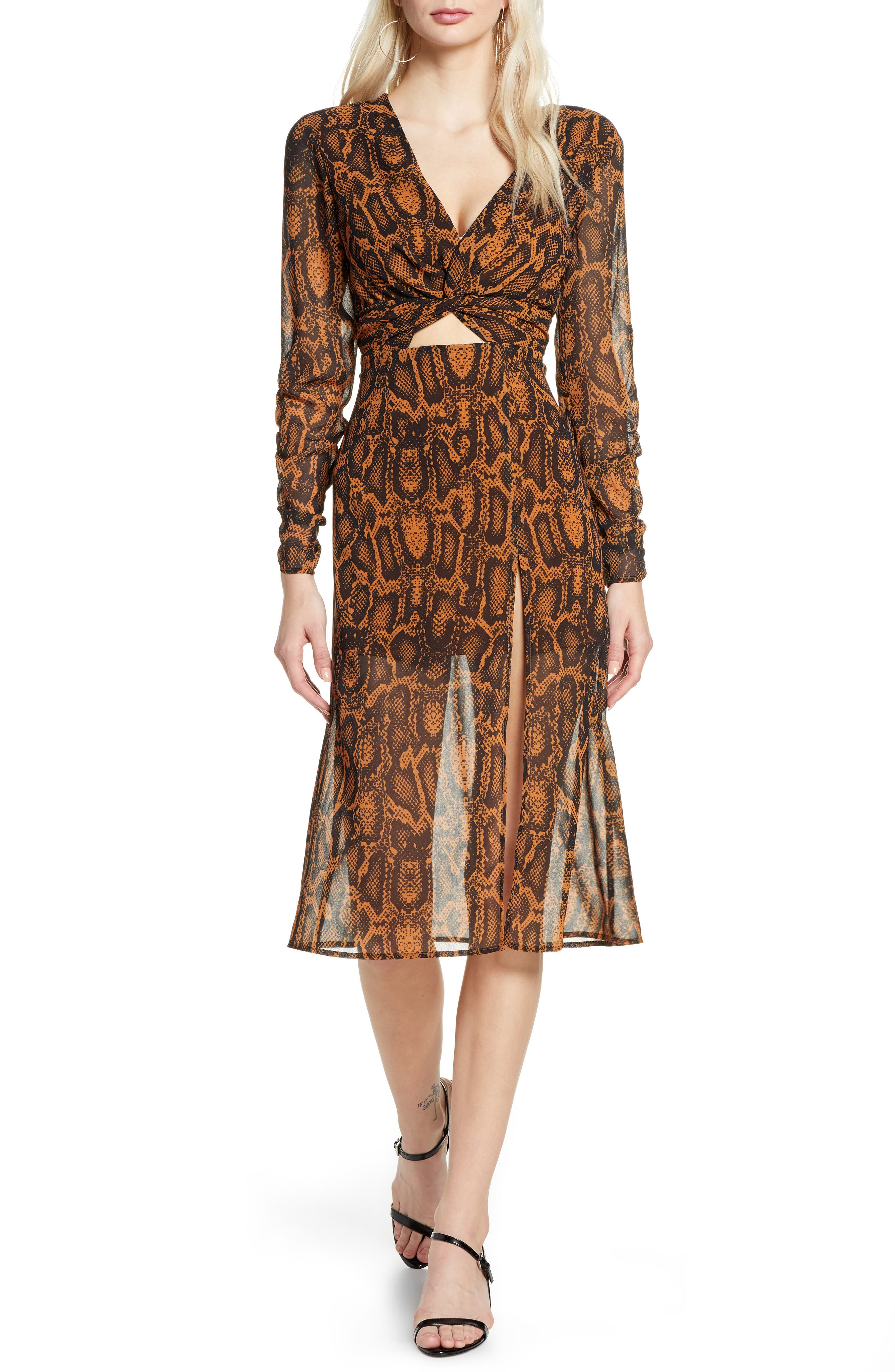 Finders Keepers Womens Lana Snake Print Ruched Party Mini Dress BHFO 7660