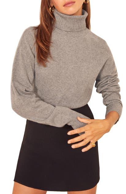 Reformation Sweaters CASHMERE BLEND BOYFRIEND TURTLENECK SWEATER