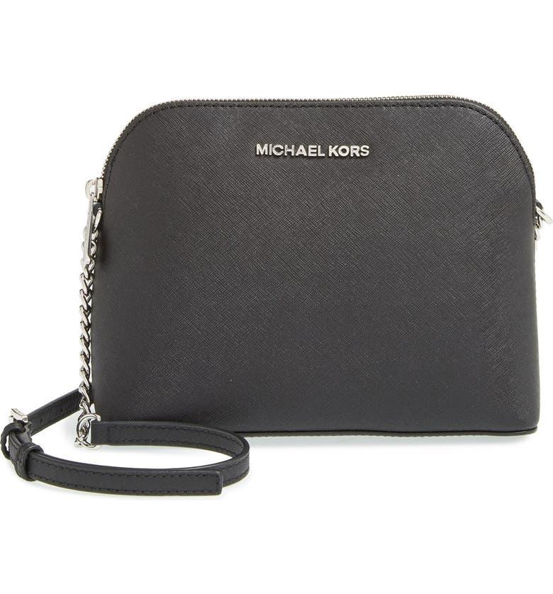 MICHAEL MICHAEL KORS 'Large Cindy' Saffiano Leather Crossbody Bag, Main, color, 001