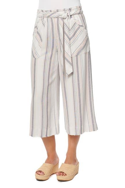 Image of Democracy Stripe Paperbag Waist Tie Pants