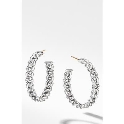 David Yurman Belmont Chain Hoop Earrings